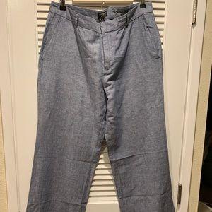 Banana Republic Linen Pants Blue